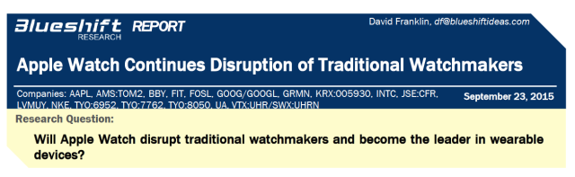 Apple Watch Research