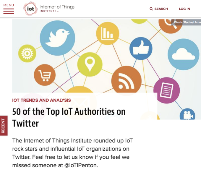 Amyx+ Voted Top IoT Authority by the Internet of Things Institute
