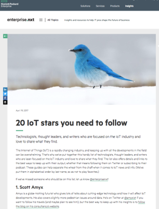Amyx+ Voted Top IoT Rockstar by HPEnterprise